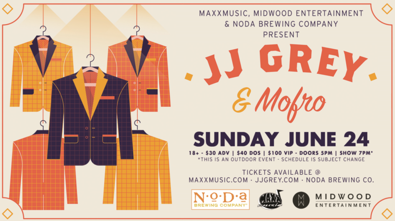 JJ Grey & Mofro at NoDa Brewing on June 24